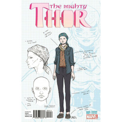 MIGHTY THOR #1 1:20 JANE FOSTER DESIGN VARIANT COVER! MARVEL COMICS VF/NM 2015