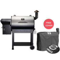 Z GRILLS ZPG-7002E Wood Pellet Grill BBQ Smoker Digital Control with Cover